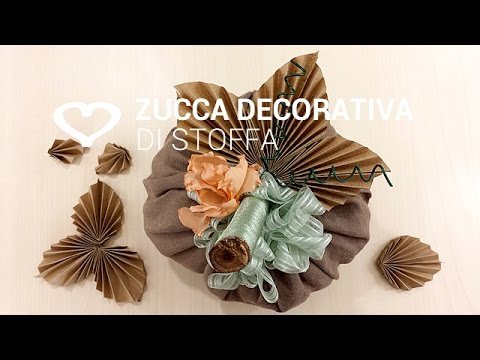 Tutorial come realizzare una zucca decorativa di stoffa for Tutorial fermaporta di stoffa