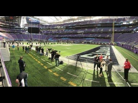 U.S. Bank Stadium undergoes Super Bowl transformation