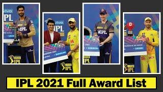 IPL 2021 Award Ceremony ★ IPL 2021 Winner Award, Prize Money ★ IPL 2021 ★ IPL Awards