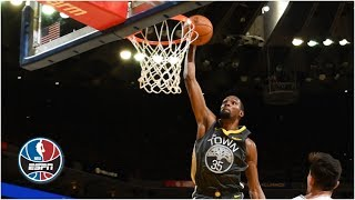 Warriors go on ridiculous shooting stretch to knock off Spurs   NBA Highlights