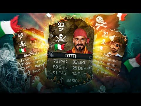 OMG CAPTAIN PIRLO AND BALO TOTTI THE BEST ITALIAN EURO 2016 PIRATE SQUAD! FIFA 16 ULTIMATE TEAM