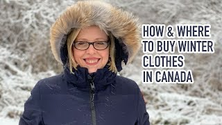 How and where to buy winter clothes in Canada