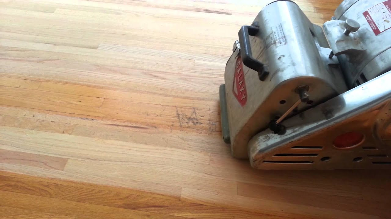 removing deep scratches from a hardwood floor youtube. Black Bedroom Furniture Sets. Home Design Ideas