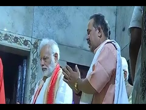 PM Narendra Modi offered prayers at Durga Mata temple in Varanasi