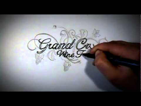 Grand Cru Wine Tours Logo Speed Drawing