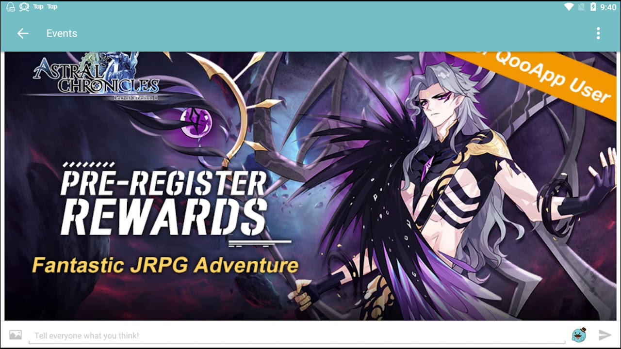 Astral Chronicles: QooApp Free Items Preregister Event
