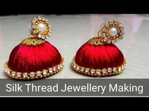 Silk Thread Jewellery Making |Silk Thread Earrings | onu solradhukila