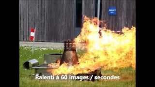 Etude d'une BLEVE lors de la formation incendie au Synchrotron SOLEIL.