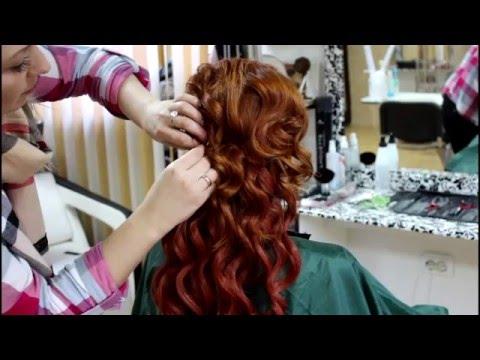 Прическа с накладными прядями. Hairstyle with false hair