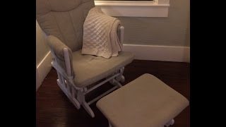 Veda Day 15 - How To Paint Upholstery: Diy Glider Makeover!