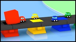 PAINT SHOP! - Cartoon Cars Building Block Bridge Construction Car Cartoons for Kids. Kids Cartoons