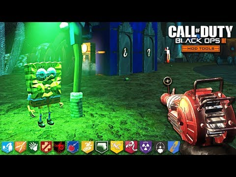 "SPONGEBOB: ZOMBIES (Rock Bottom) - BLACK OPS 3 ""CUSTOM ZOMBIES"" MAP! (Call of Duty: Zombie Mods)"