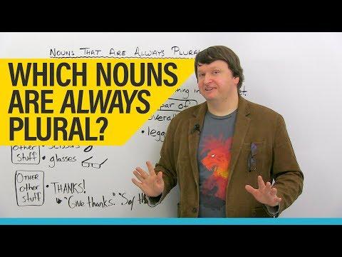 English Grammar & Vocabulary: Permanent Plurals