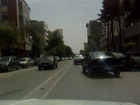 Mashhad, Iran Street Views from Inside a Cab (4-rahe doktora...) and Sounds of Radio Mashhad