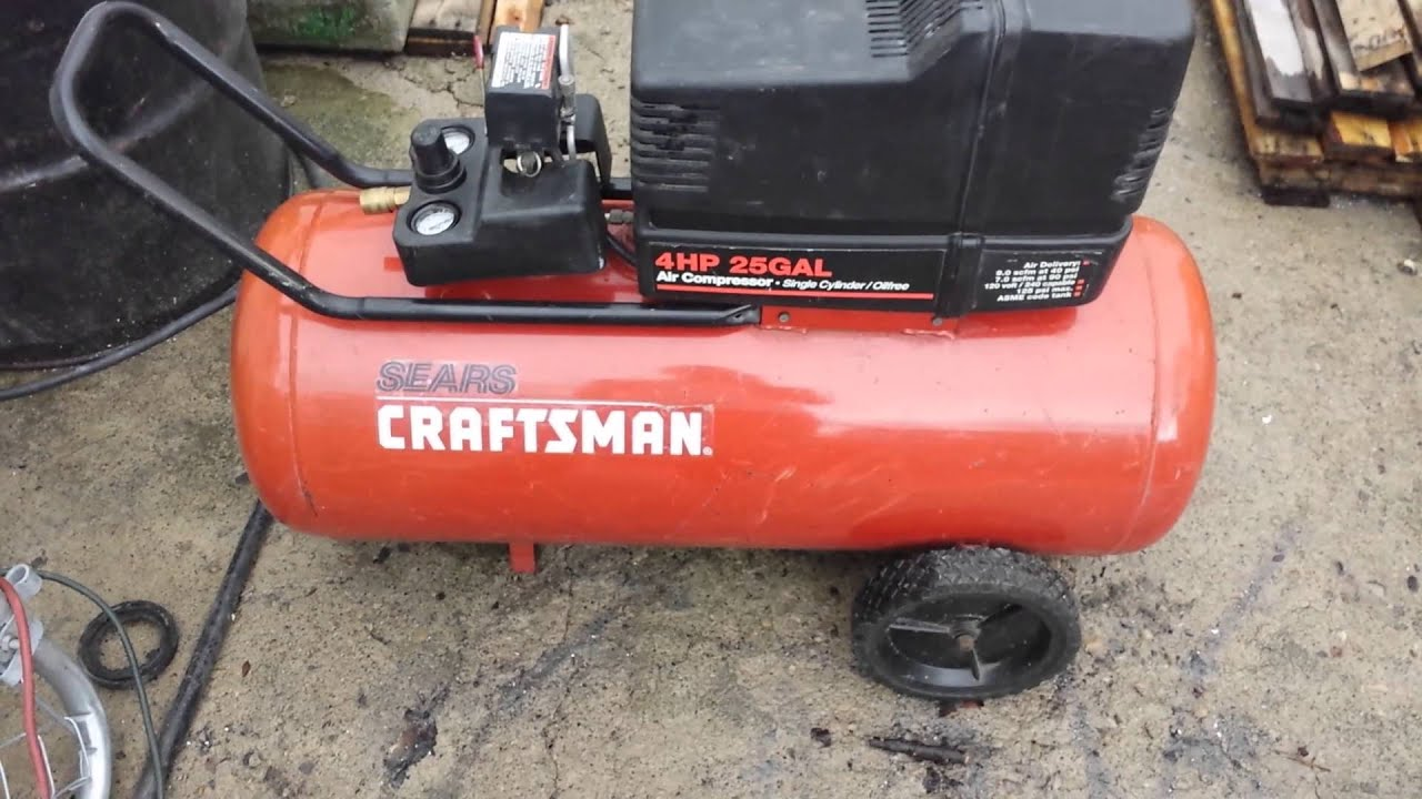 For sale Sears craftsman 4hp 25gal air compressor - YouTube Old Devilbiss Air Compressor Wiring Diagram Craftsman on