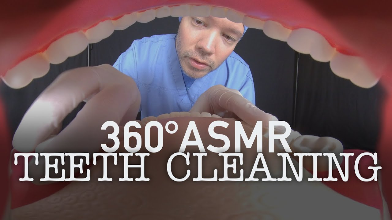 EYES STILL IN YOUR MOUTH!? 👀 A 360° Dentist Teeth Cleaning Roleplay (ASMR, 5K)
