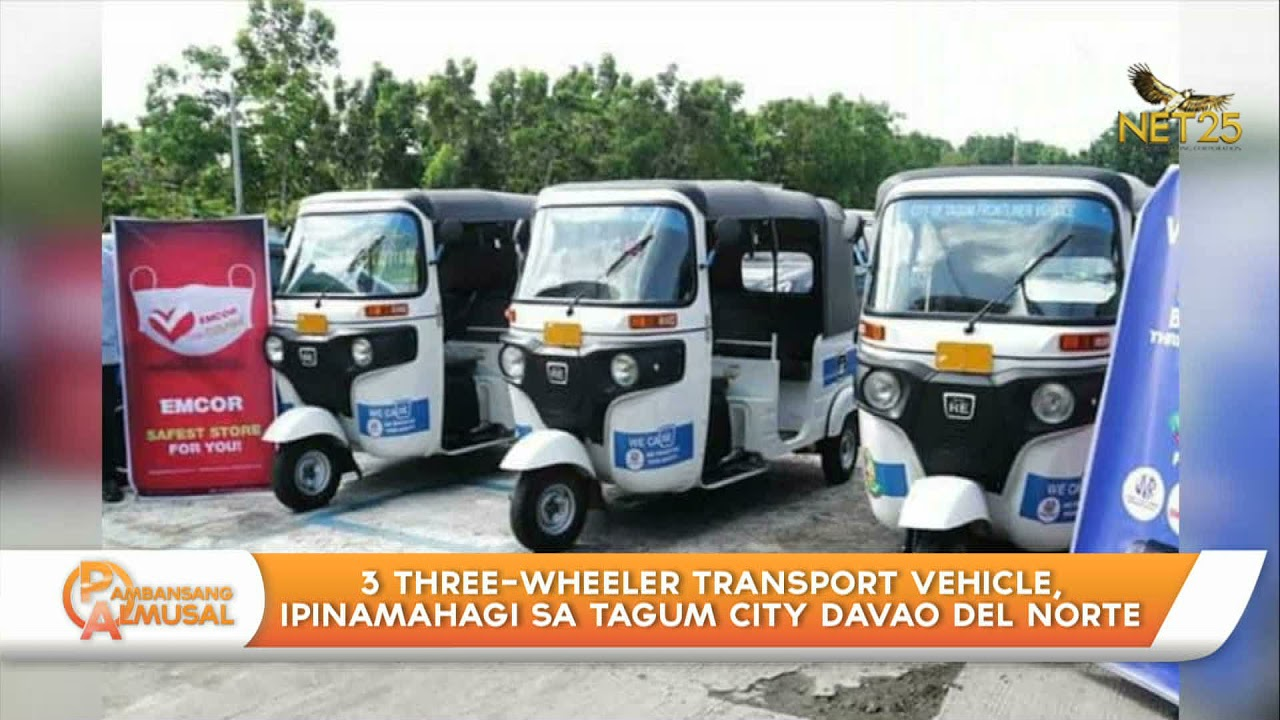 3 three-wheeler transport vehicle, ipinamahagi sa Tagum City, Davao del Norte