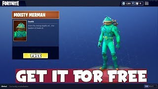 *NEW* HOW TO GET MOISTY MERMAN FOR FREE On Fortnite Battle Royale!