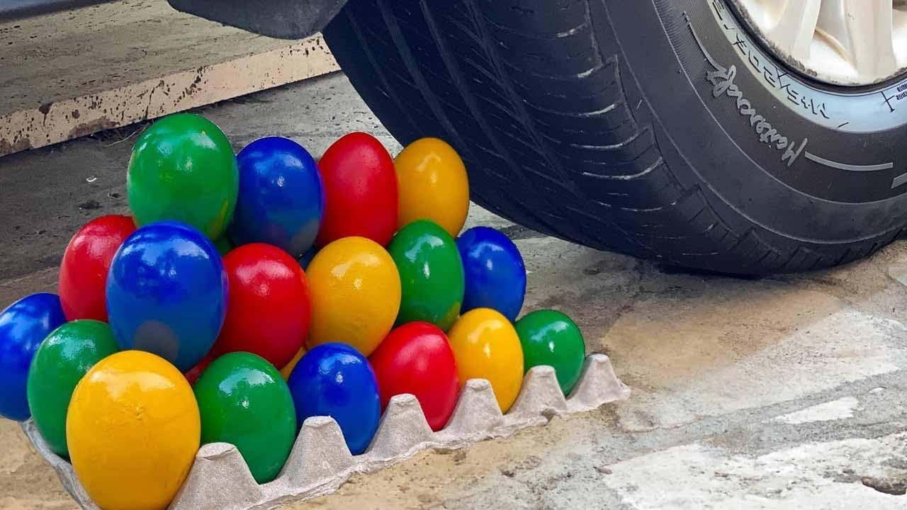 Experiment Car vs Giant Coca Cola, Big Chupa Chups || Crushing Crunchy & Soft Things by Car|