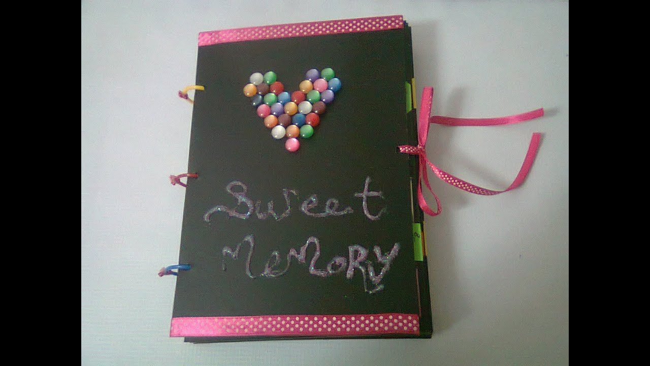 How To Make A Book Cover At Home : Diy sweet memory photo album youtube