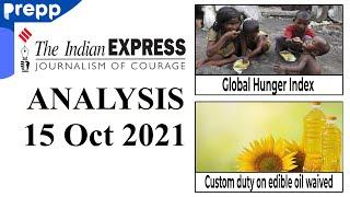 The Indian Express Newspaper today   15 October 2021   UPSC CSE/IAS   Current Affairs