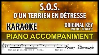 SOS D'un Terrien En Détresse Karaoke Berger Original Key