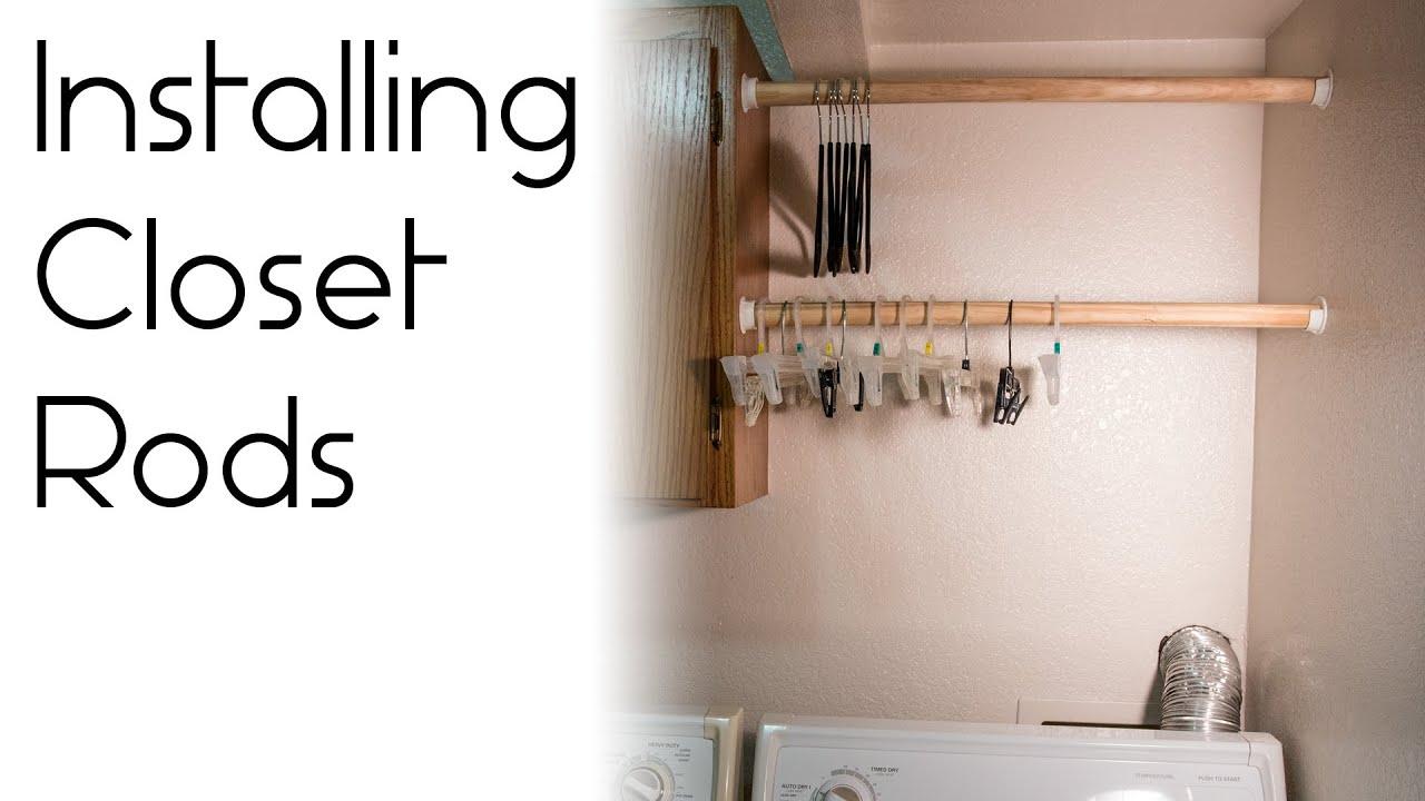 How To Install A Closet Rod Youtube