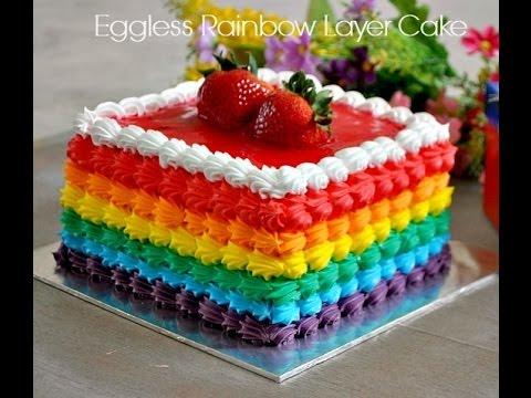 Rainbow Cake Decorating Youtube