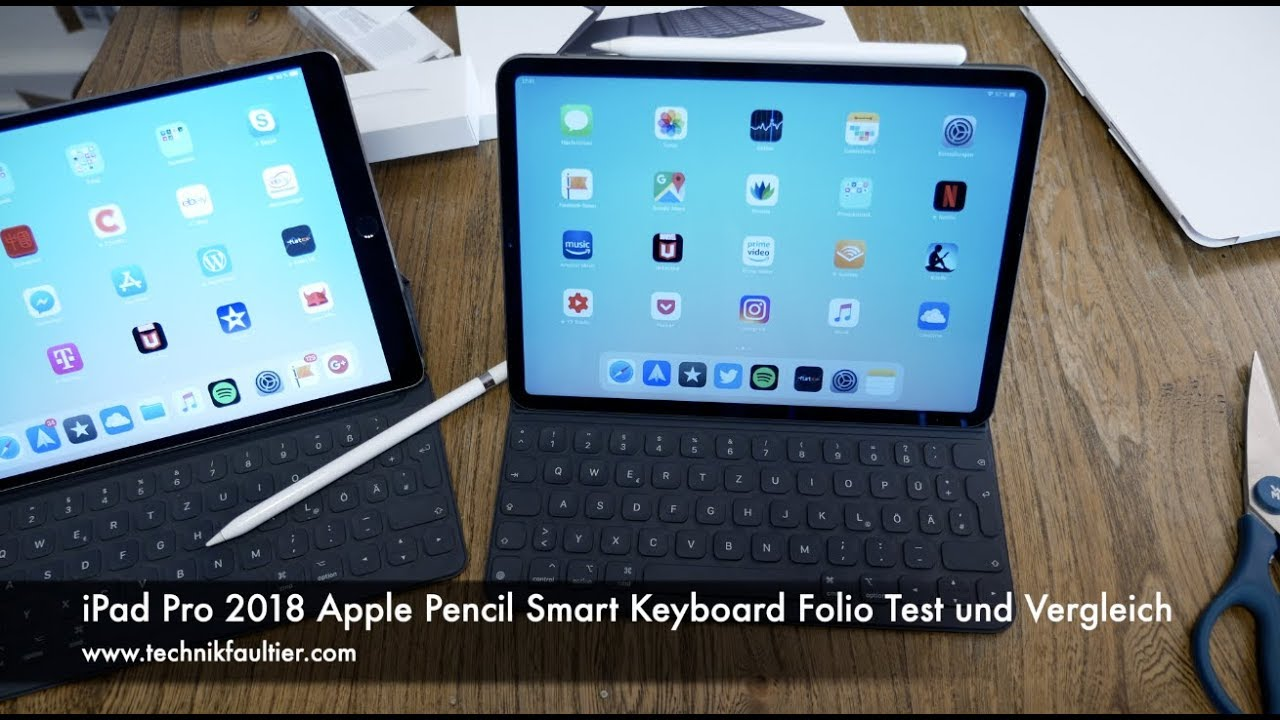ipad pro 2018 apple pencil smart keyboard folio kurzer. Black Bedroom Furniture Sets. Home Design Ideas