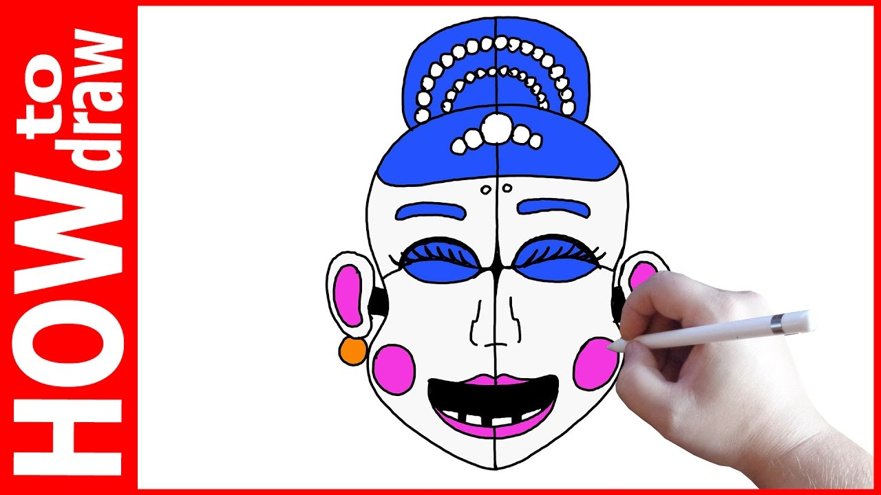 Pictures Of Ballora Cute: How To Draw Ballora, FNAF Sister Location, Как нарисовать