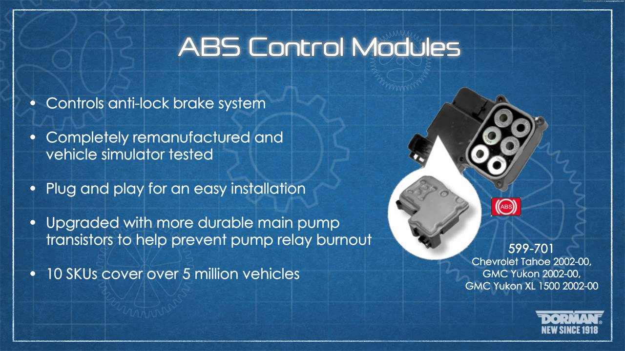 ABS Control Module | 599-701 | Remanufactured ABS Control