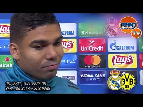 CASEMIRO post Real Madrid 3-2 Borussia Dortmund | Champions League (06/12/2017)
