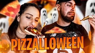 Pizza spéciale Halloween, @Valouzz  n'est pas serein ! 🍕