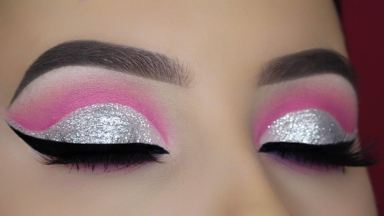 Crystal Pink Cut Crease Tutorial Youtube