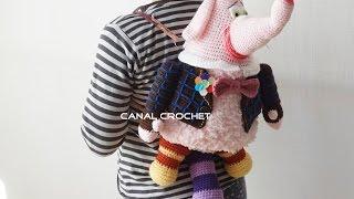 mochila infantil elefante tutorial