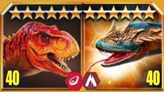 TITANOBOA Vs TYRANNOSAURUS REX - Jurassic World The Game