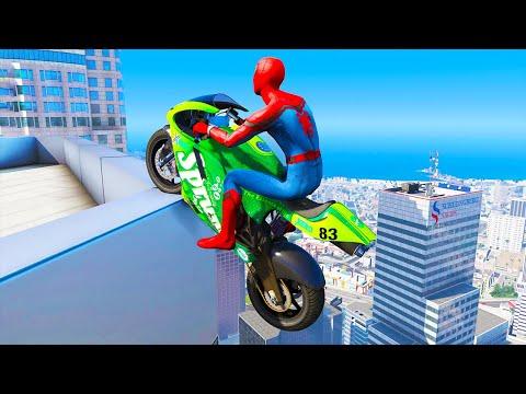 GTA 5 Spiderman Epic Jumps #11 ( Spider-Man Stunts & Fails )