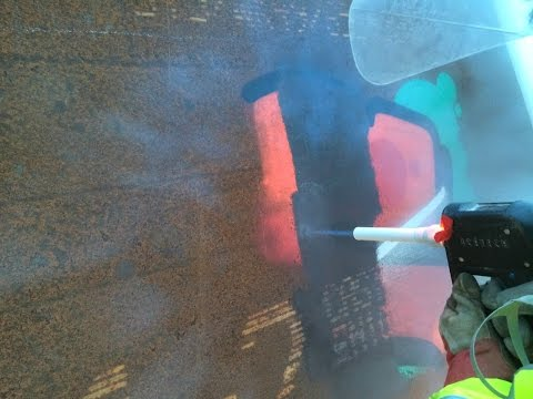 Dry Ice Blasting   Weathering Steel Trial