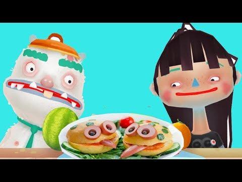 ГОТОВКА ЧЕЛЕНДЖ # 2  - Готовим еду, мультик - игра готовка