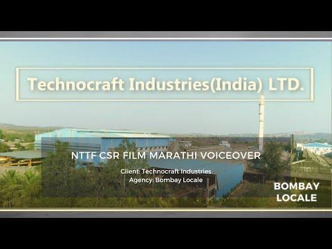 TECHNOCRAFT INDUSTRIES CSR Film. NTTF(Nettur Technical Training Foundation) Murbad Centre. Marathi