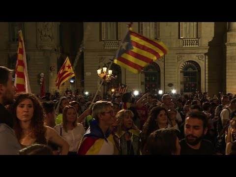 Huge crowds protest as Spain moves to sack Catalan government