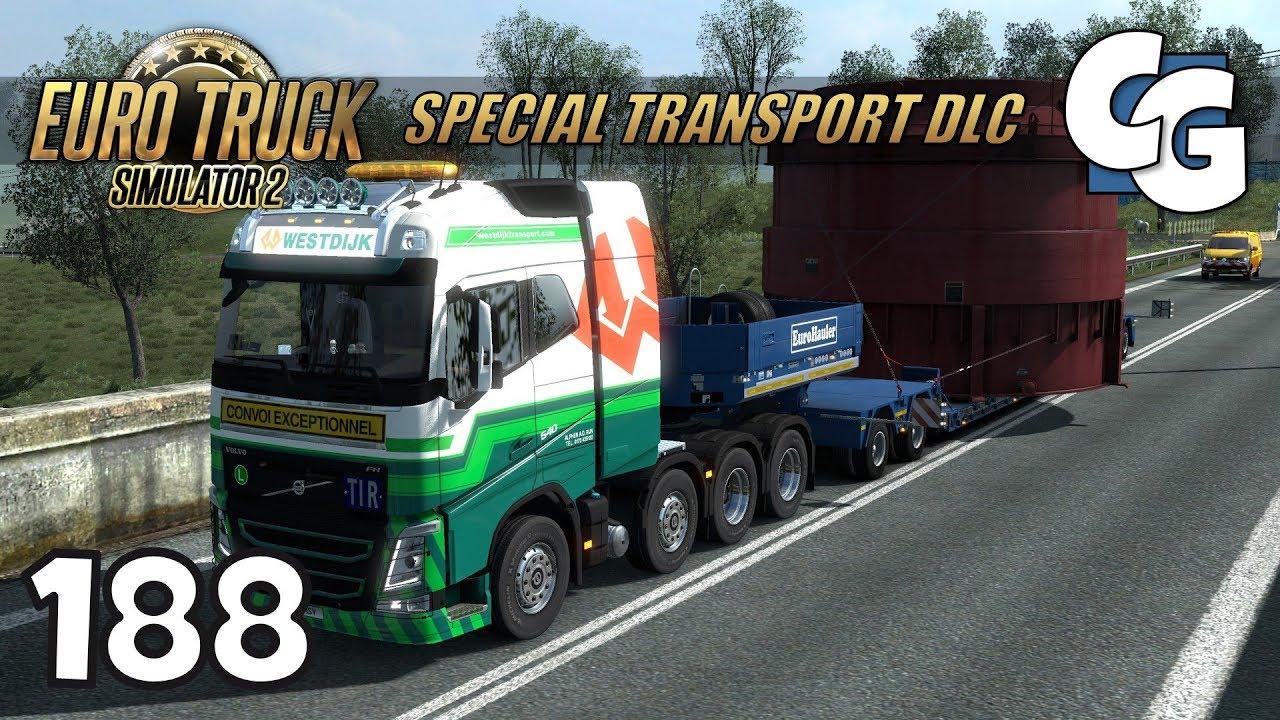 ETS2 - Ep  188 - Special Transport DLC - ETS2 Special Transport DLC Gameplay