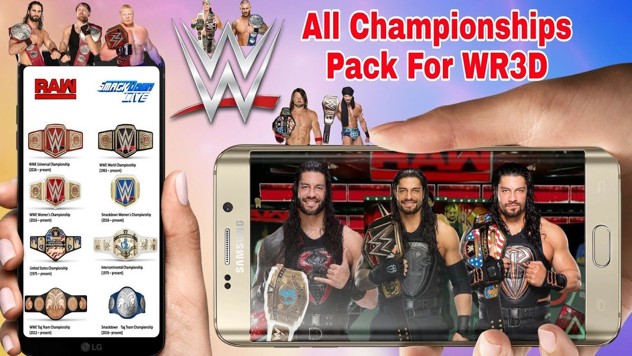 All Championships Pack For WR3D! How To Download All Championships In  Wrestling Revolution 3D Game by Games Hacker