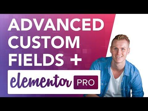Advanced Custom Fields & Elementor Pro