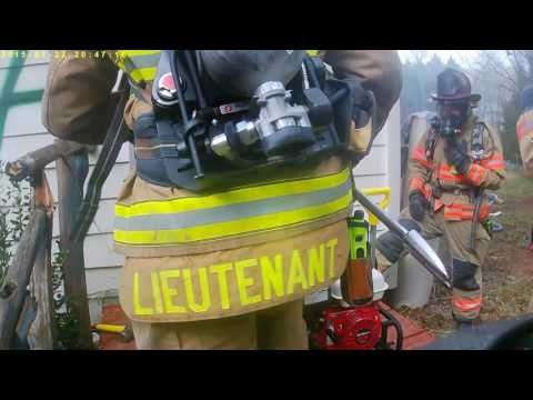 knozzle man, advance fire dept live burn 3/18/17