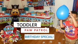 SJ TURNS 3 PAW PATROL B RTHDAY PARTY