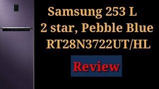 Samsung 253 L 2 Star Frost Free Double Door Refrigerator(RT28N3722UT/HL|| Indian Youtuber Latika
