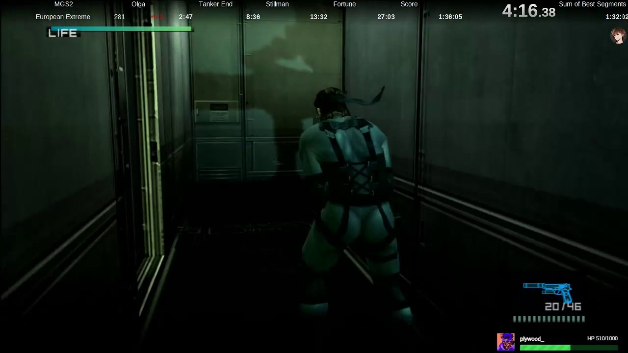 Ps3 Metal Gear Solid 2 European Extreme In 1 34 22 Big Boss Rank No Loading Trick