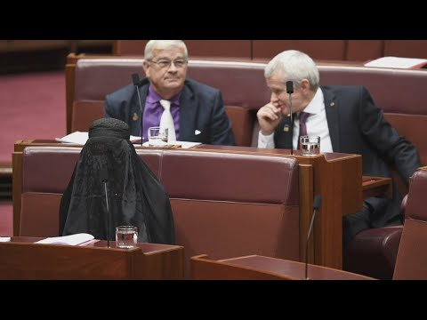 Anti-Muslim senator sparks anger by wearing burqa