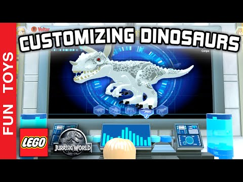Lego Jurassic World Gameplay Part 2, Customizing 7 more Dinosaurs - Customizando novos 7 Dinossauros